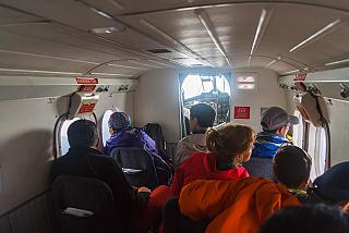 The cabin of the aircraft DHC-6 Twin Otter airline Tara Air