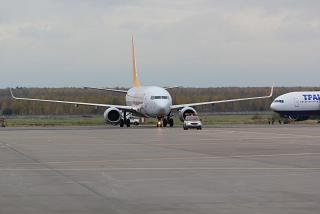 Самолет Боинг-737-800 Pegasus Airlines в аэропорту Домодедово