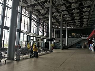 Inside the passenger terminal A of Saransk airport