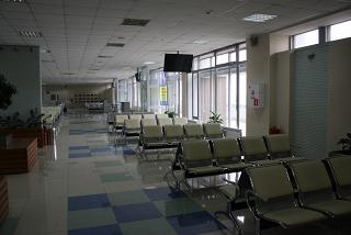 The waiting room on the second floor at the airport Khabarovsk Novy