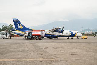 The ATR 72, Buddha Air Kathmandu airport