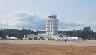 The control tower of the airport of Pula