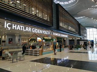 In the passenger terminal of airport Istanbul New
