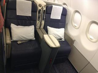The business class in the Airbus A320 Gulf Air