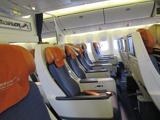 "The ""Comfort"" class on the Boeing-777-300 Aeroflot"