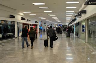 In the arrivals area of the airport of Mexico city Benito Juarez