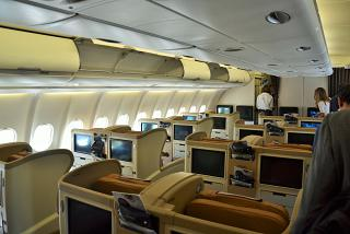 The business class of Airbus A330-300 sing