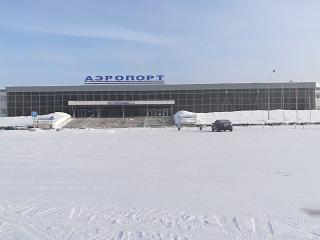 The terminal of the airport of Bratsk