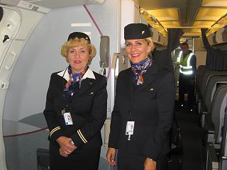Stewardesses of the airline Icelandair