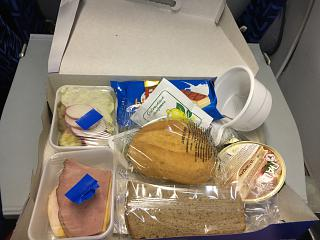 "In-flight meals on the flight from Moscow to Krasnodar airline ""ALROSA"""