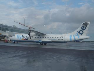 The plane ATR of 72 airlines Flybe Nordic