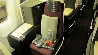 Место пассажира бизнес-класса JAL Sky Suite в Боинге-767-300 Японских авиалиний