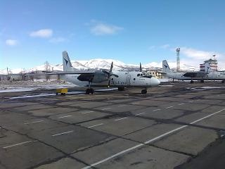 "Antonov an-26B-100 of airline ""Iraero"" airport Magadan, Sokol"