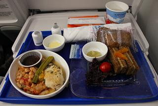 In-flight meals in the comfort class, Aeroflot on the flight tel Aviv-Moscow