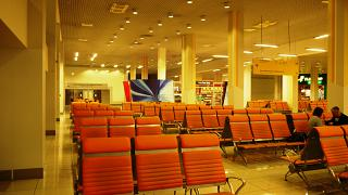 Зал ожидания в международном секторе аэропорта Екатеринбург Кольцово
