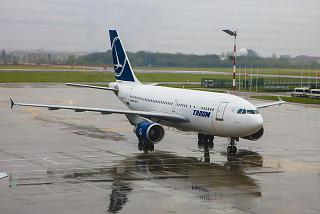 Airbus A310 of the TAROM airline at Bucharest airport