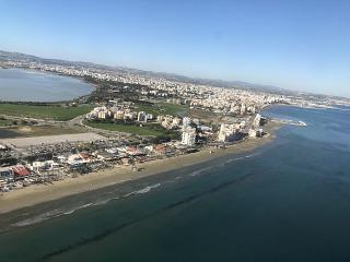 Views of Larnaca during landing
