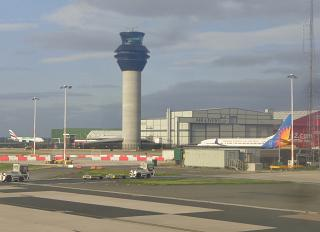 The control tower of Manchester airport