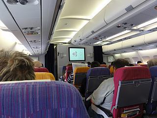 Салон самолета Airbus A330-300 Тайских авиалиний