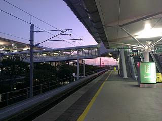The train station at the airport Brisbane