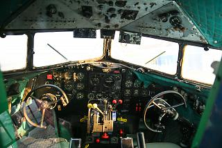 The cockpit of the aircraft Douglas DC-3 in the Museum of technology in Sinsheim