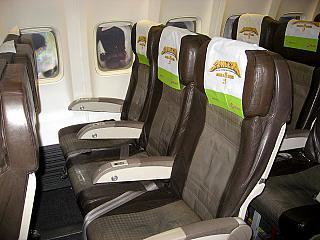 Кресла экономического класса в самолете Боинг-737-800 авиакомпании S7 Airlines