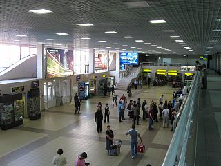The departure lounge at the airport of Surgut