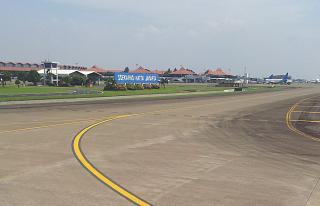 Landing at Jakarta airport