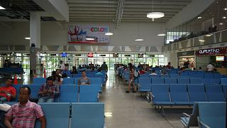 The waiting room at the airport Cartagena, Rafael n