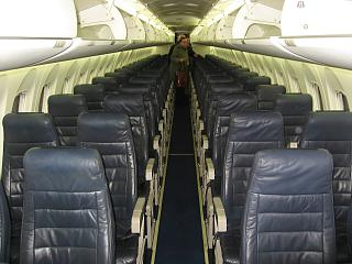 The cabin Bombardier Dash 8Q-400 airline airBaltic