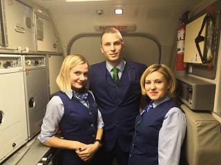 The airline flight attendants Pegas Fly
