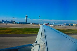 The view of the airport Milan Malpensa