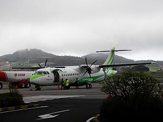"Aircraft ATR 72-500 airline ""Binter Canarias"" in Tenerife airport"