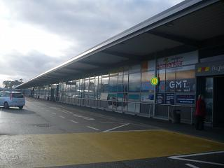 The terminal of the airport Karlsruhe Baden Baden