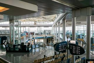 In the passenger terminal at Porto Francisco Carneiro airport