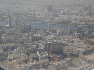 View over Dubai from the plane