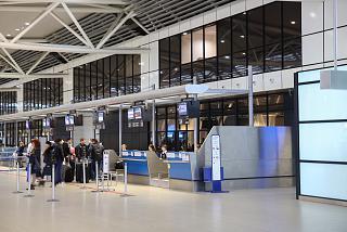 Стойки регистрации в терминале 2 аэропорта София
