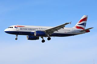 Airbus A320 reg. G-GATK of British Airways in the sky