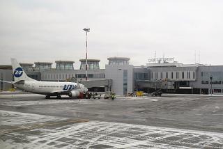 Passenger terminal Pulkovo-1 airport in St. Petersburg