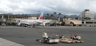 The passenger terminal of the Honolulu airport