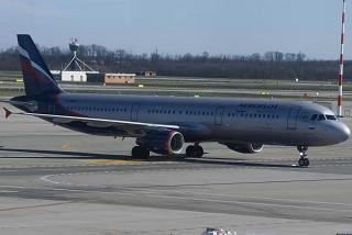 "Airbus A321 VP-BTR ""S. Diaghilev"" Aeroflot at the airport of Milan Malpensa"