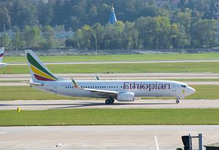 Boeing-737-800 ET-AQQ of Ethiopian Airlines at the airport of Sochi