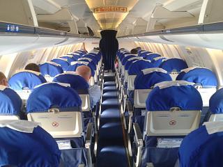 The plane Bombardier CRJ-200 aircraft the airline yuvt-Aero