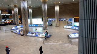 The arrival hall at the airport of tel Aviv Ben Gurion