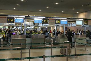 Регистрация на рейс Москва-Гонконг авиакомпании Cathay Pacific в аэропорту Домодедово