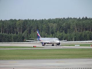 Airbus A320 of Aeroflot at the airport of Minsk