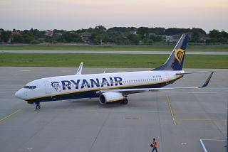 Boeing-737-800 EI-ENB of Ryanair in the airport of Lviv