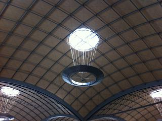 Ceiling light terminal of the Alicante airport