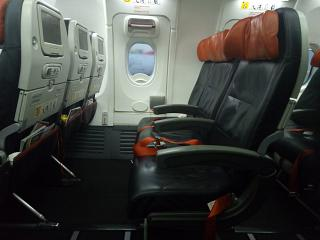 The passenger seats in the Boeing-737-900 Turkish airlines
