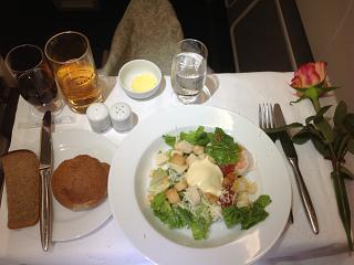 Питание бизнес-класса на рейсе Аэрофлота Москва-Владивосток